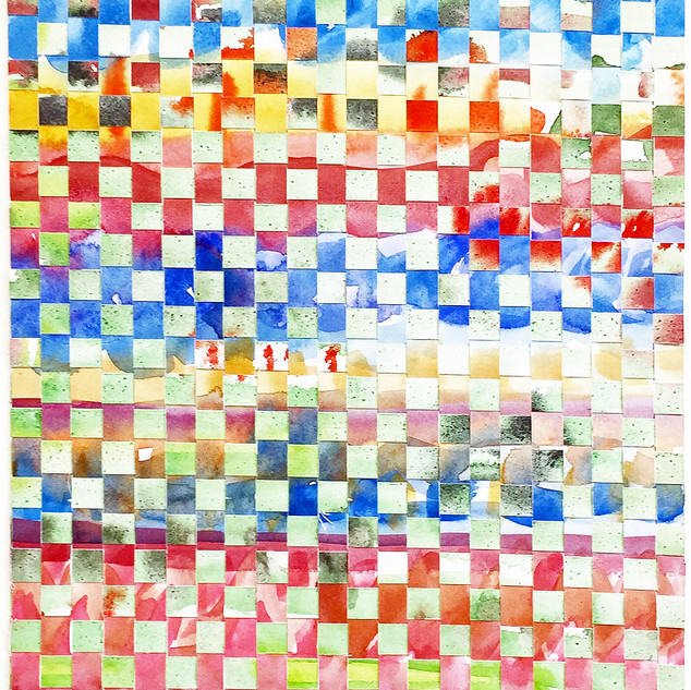 Mixed Annie Albers, Woven Watercolour, 2020