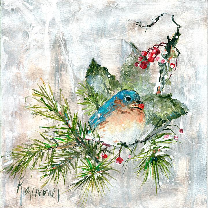 171 bluebird on pine  10x10.jpg