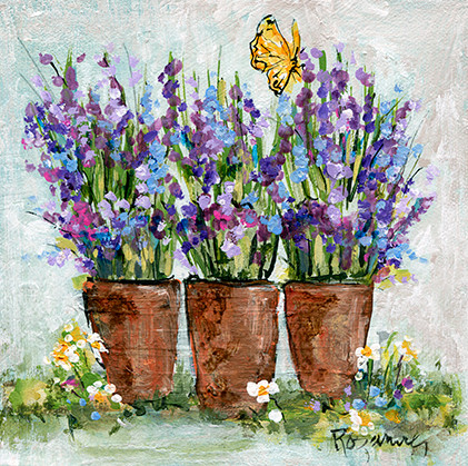 236 3 Pots with Lavender 6x6.jpg