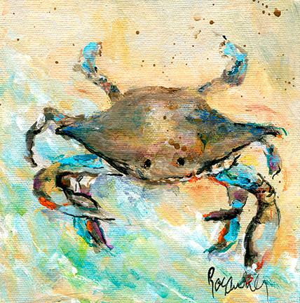 229 Blue Crab 6x6 #2.jpg