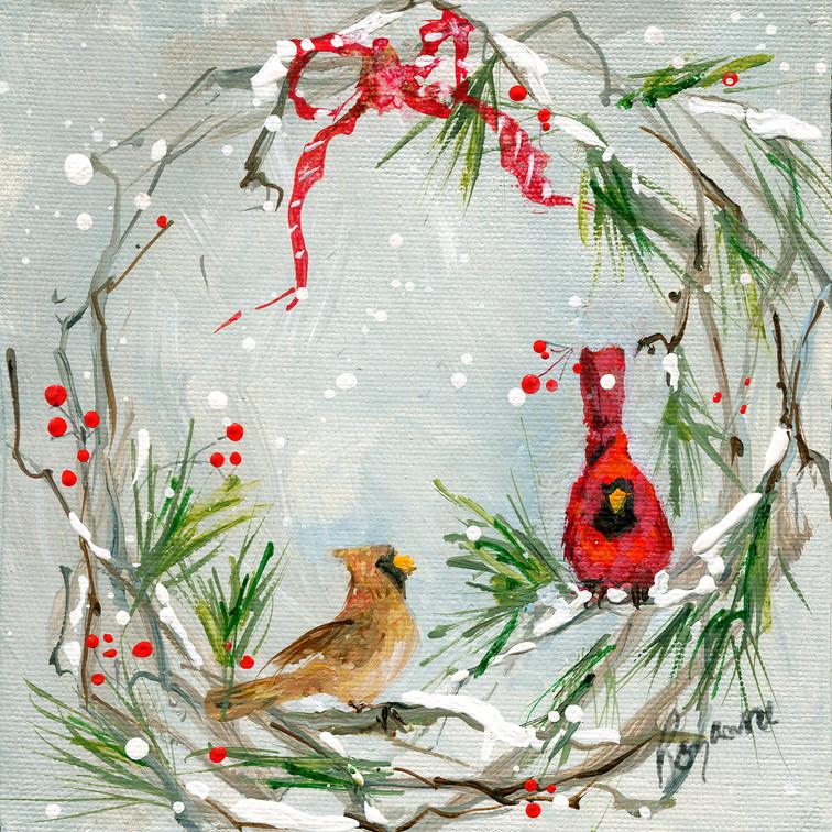 220 christmas wreath with cardinal pr_.j