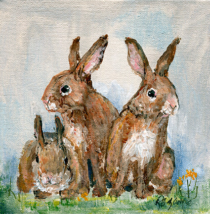 243 3 Happy Bunnies 6x6.jpg