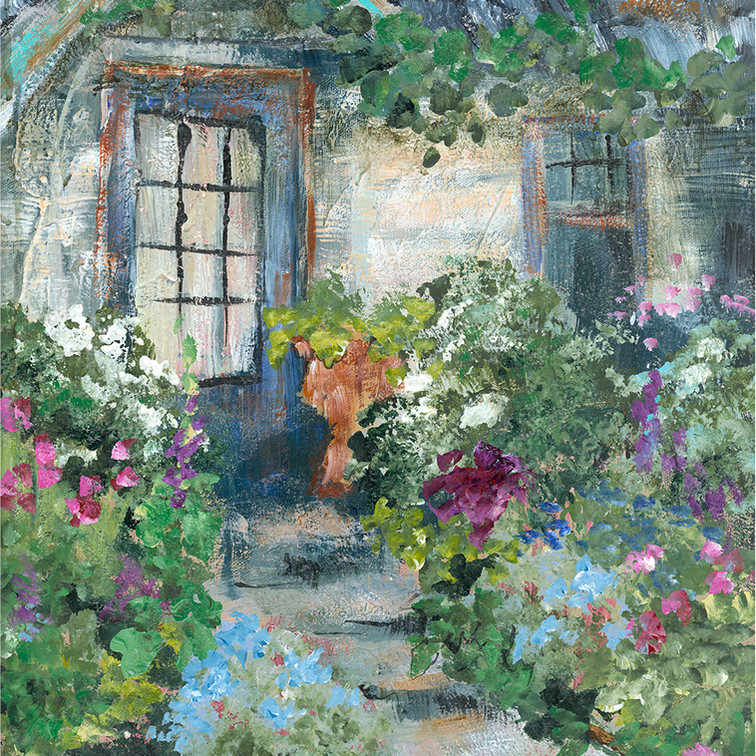 254 garden by the stairs 14 x 18.jpg