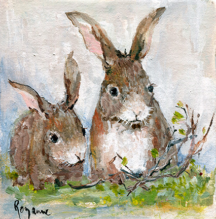 244 2 Bunnies NO Butterfly 6x6.jpg