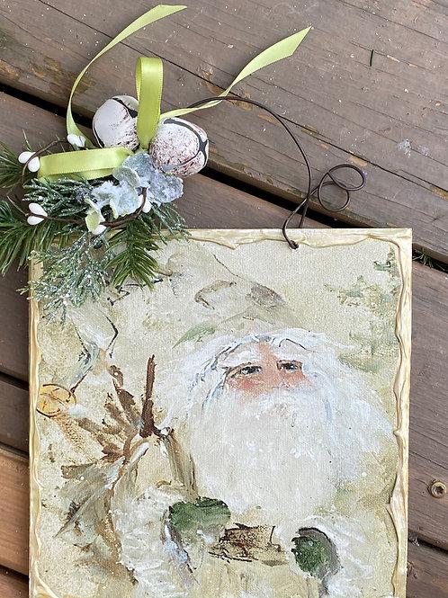 Cream Santa with Twigs