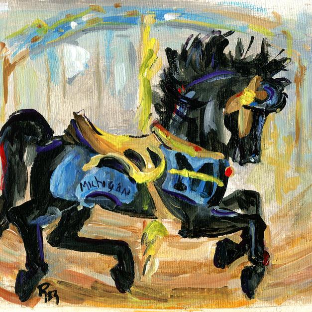 878 Black Carousel Horse M.jpg
