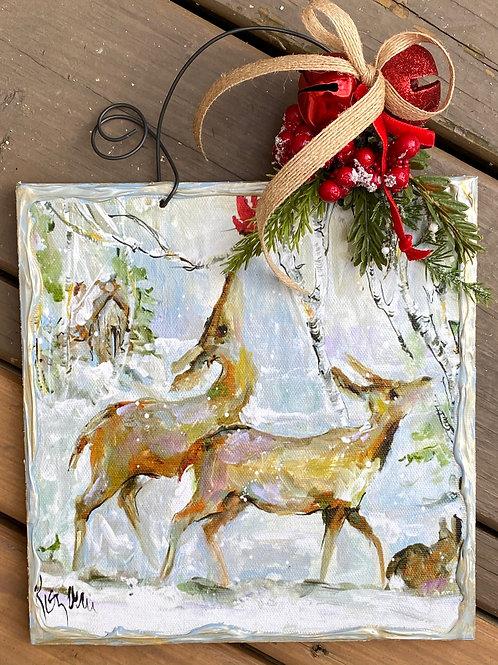 Two Deer Birchbark