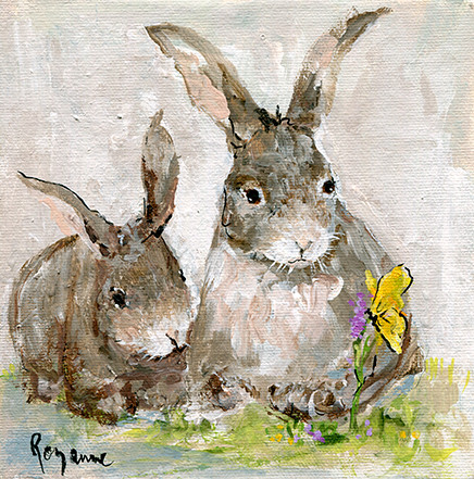 239 Butterfly and the Bunnies 6x6.jpg