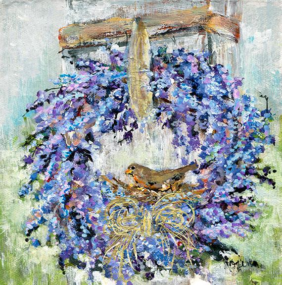 235 Lavender Wreath 8x8 #2.jpg