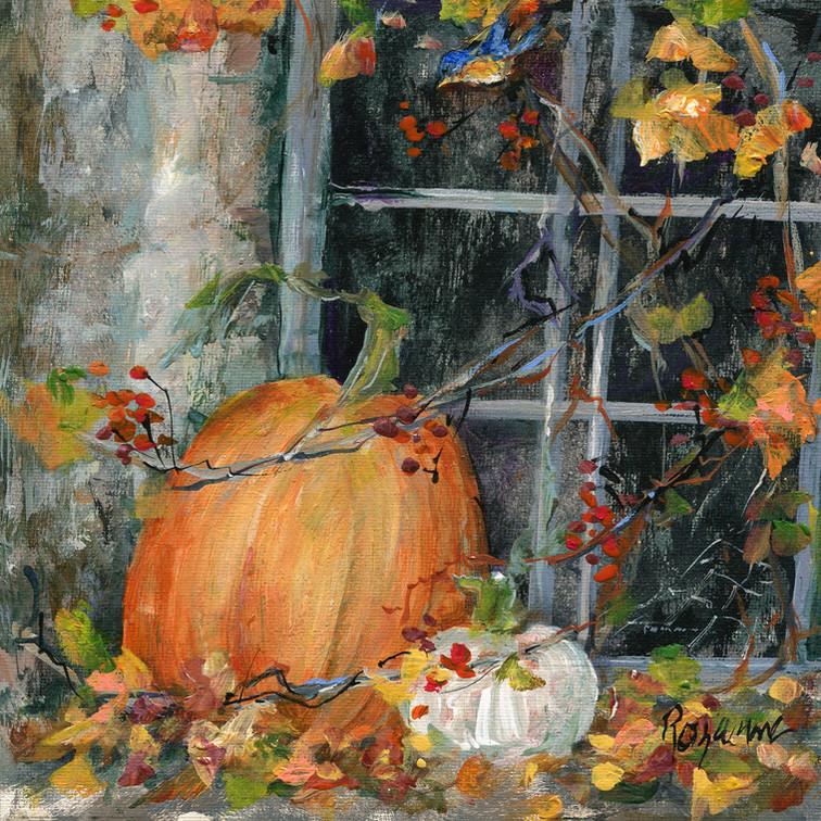 271 Pumpkin by the Window 7x8.jpg