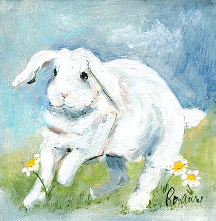 247 White Bunny in Spring 6x6.jpg
