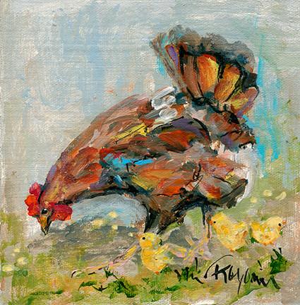 226 Hen and Chicks 6x6.jpg