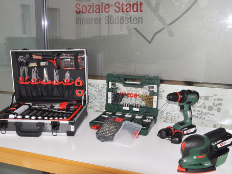 Werkzeugverleih im Quartiersbüro
