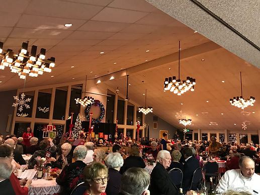 The Ballroom full of people enjoying a Christmas Party