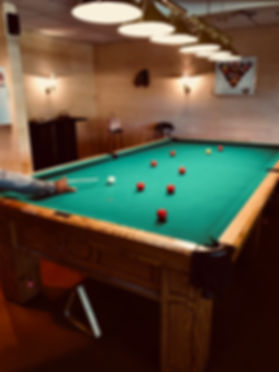 Playing Snooker in the Mazama Room
