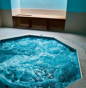 relax in one of our two Hot-tubs
