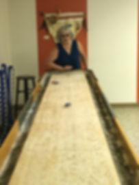 Playing Shuffleboard in the Klickitat Room