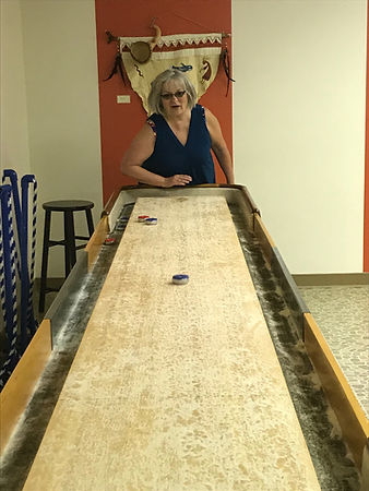 Playing Shuffleboard in the Klickitat Room
