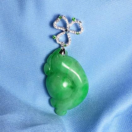Diamond Jade Pendant