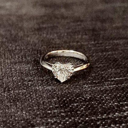 1.0ct Heart Shape Diamond Ring
