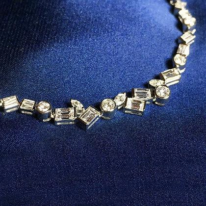 Irregular Shape Diamond Necklace