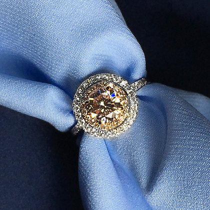 Pink Diamond in Gold Ring