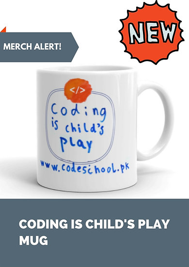 """Coding is child's play"" Mug"