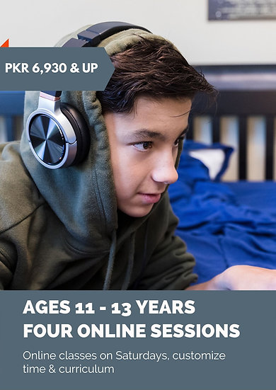 Online Coding Classes: ages 11-13 years