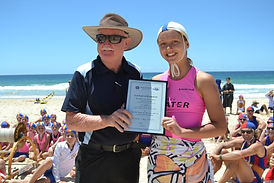 Tony Haven with the Female Winner Jessica O'Donnell (Nowra Culburra)