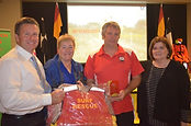 Dir. Education Jim Connolly presenting Volunteer of Year award to Mitch Pakes Nowra-Culburra