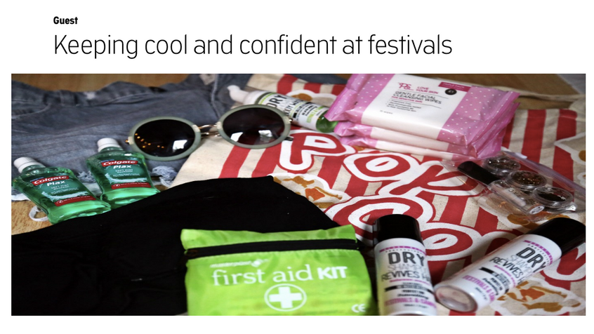 Keeping cool & confident at Festivals - Guest Blog