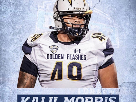 Kent State defensive tackle Kalil Morris Signs with the Baltimore Ravens