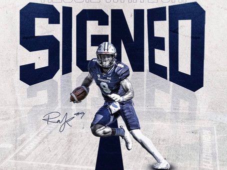 Monmouth wide receiver Reggie White Jr. signs with the New York Giants