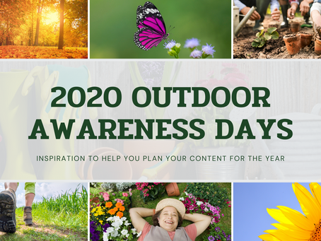 2020 Outdoor Awareness Days and Important Dates