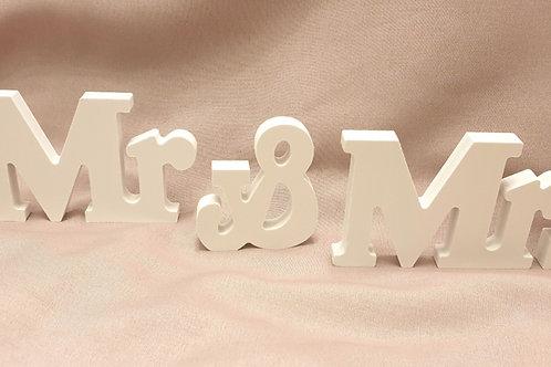 Holzaufsteller Mr&Mrs