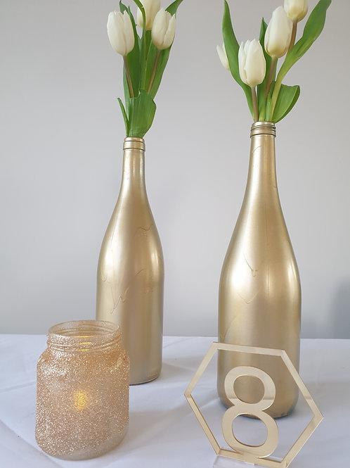Weinflasche Gold