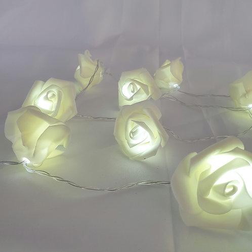 Lichterkette Rosen