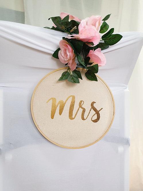 Stuhlanhänger Mr&Mrs Boho
