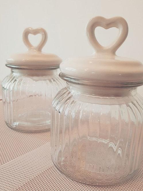 Candyglas mit Herzdeckel