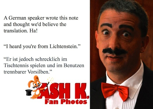 Magician Ash K. German Deutsch in Palo Alto