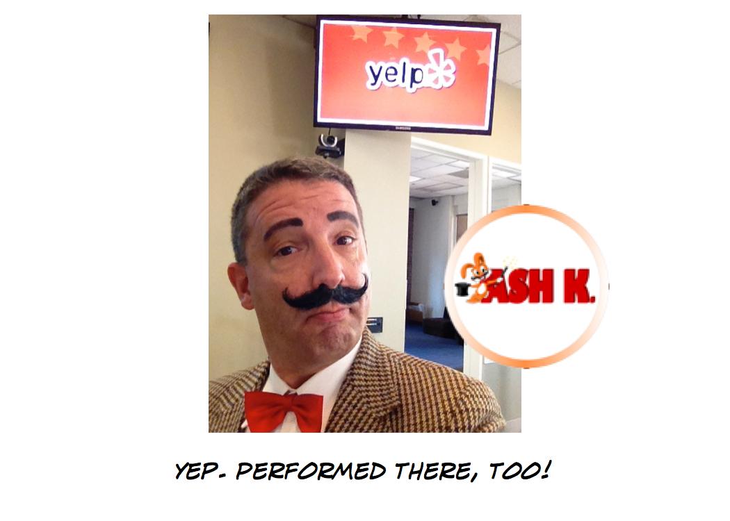 Ash K. Performs at Yelp!