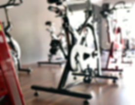 Spinning class at the fitness center
