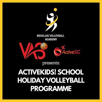 ACTIVEKIDS! SCHOOL HOLIDAY VOLLEYBALL PR