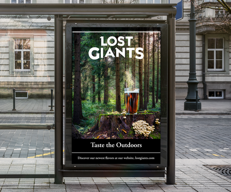 Bus Shelter Poster Mockup PSD Template.p