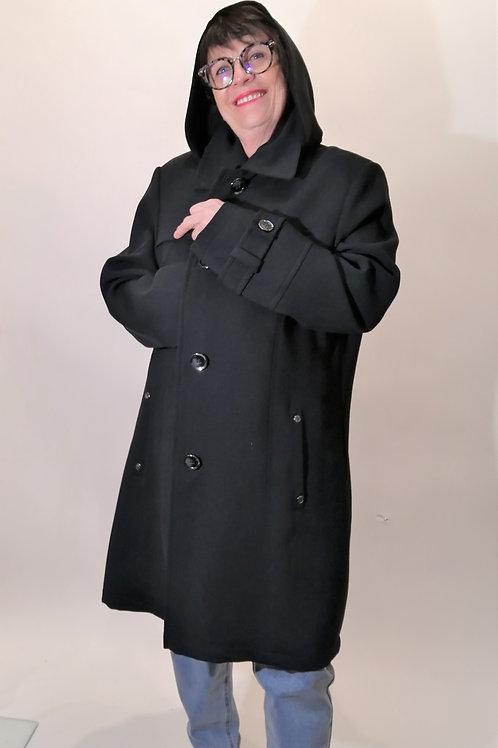 Manteau noir gabardine Fen Nelli 2516