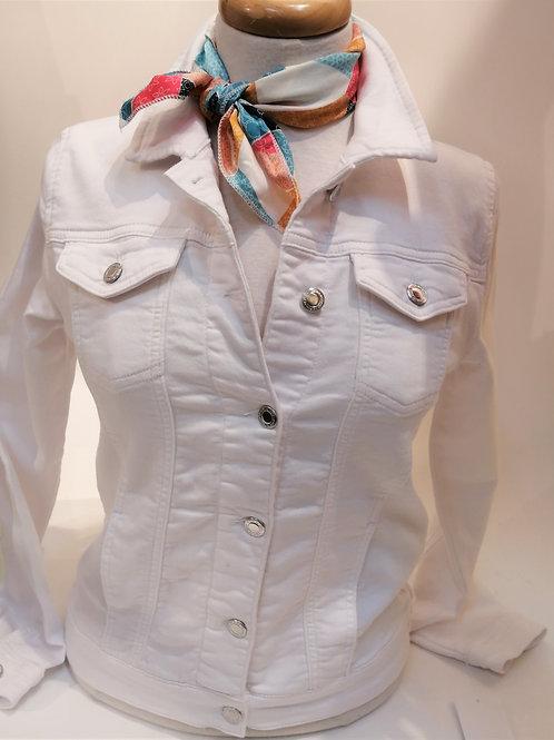 Jeans jacket blanc Yest 001037