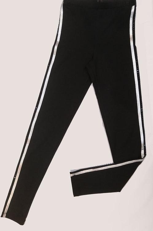 Legging noir bandes grises Tricotto 215