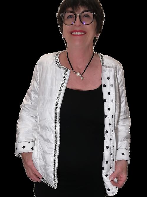 Jacket matelassé blanc Renuar R3690