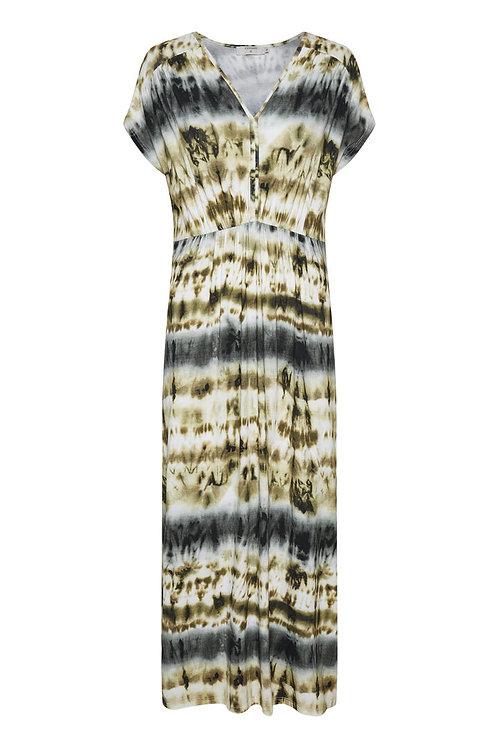 Robe longue imprimée Cream 10606156