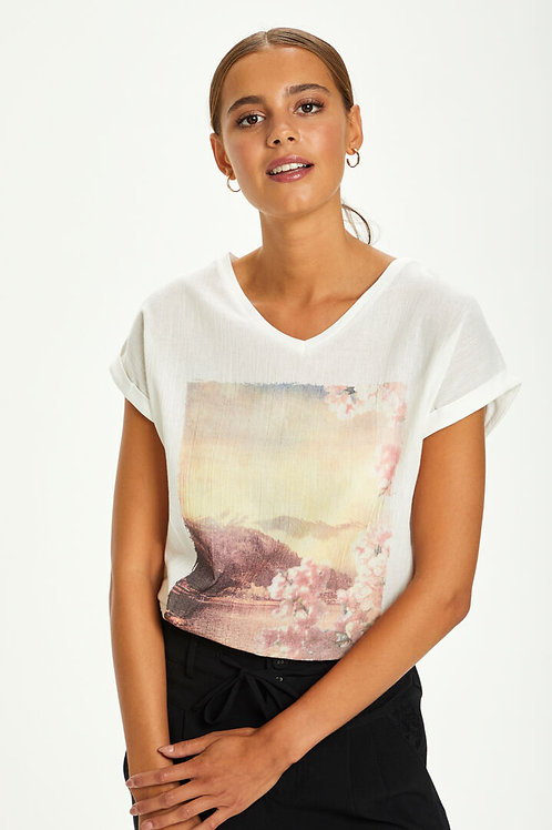 T-shirt Cream 10607622